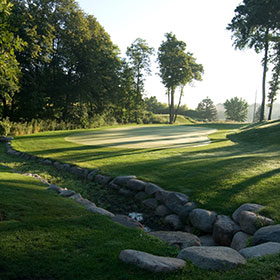 Hole 6 at Burl Oaks Golf Club