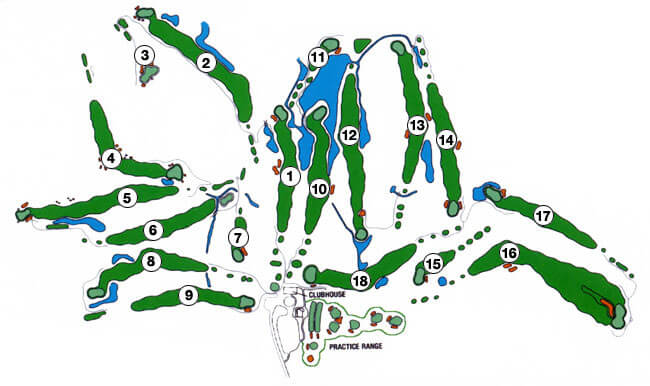 Burl Oaks Golf Club layout