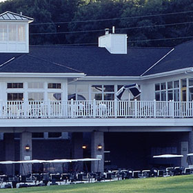 Burl Oaks Golf Club balcony