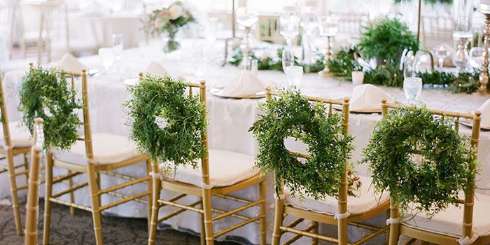 Wedding reception chairs